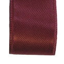 Burgundy double faced satin ribbon