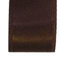 Coffee Brown faced satin ribbon