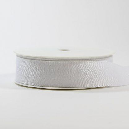White 25mm Herringbone