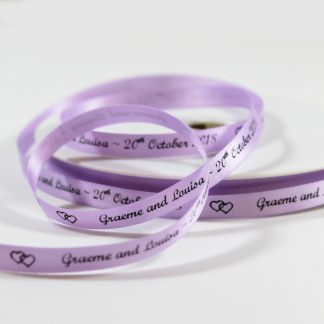 7mm Personalised Light Purple Ribbon