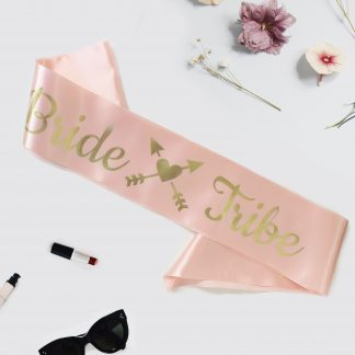bride tribe sash light Pink