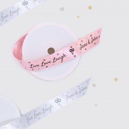 Live Love Laugh 25mm Printed Wedding Ribbon