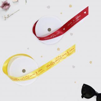 Wed Fest Ribbon Yellow and Red